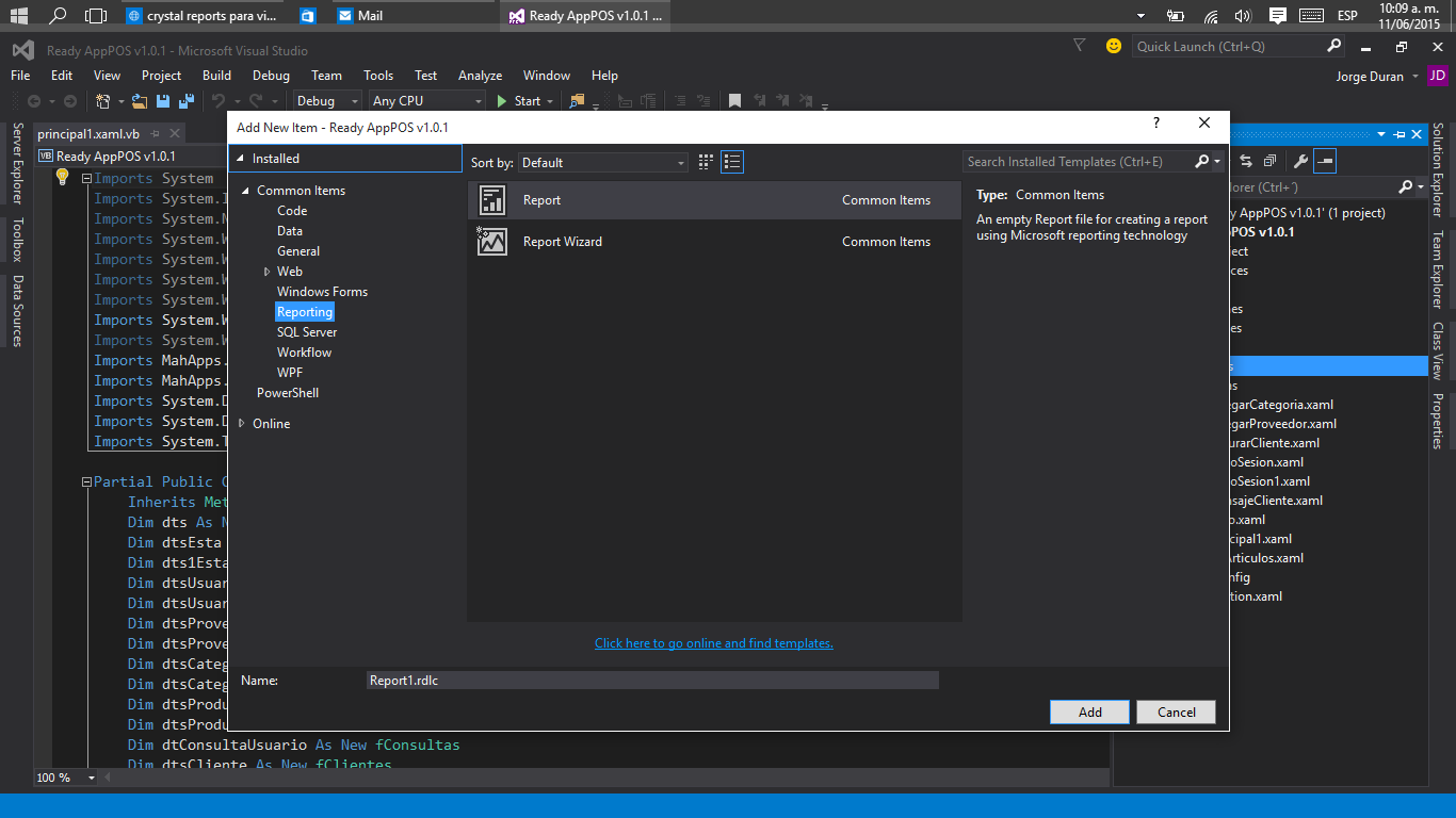 crystal reports for visual studio 2015 tutorial