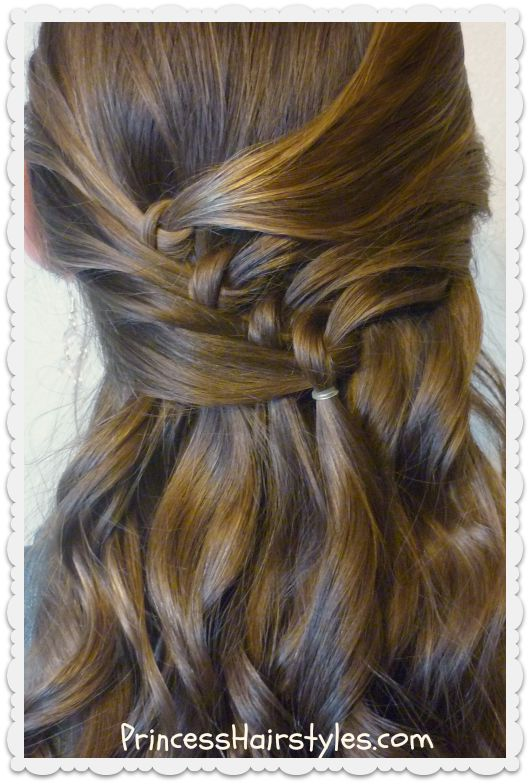 french knot hairstyle tutorial