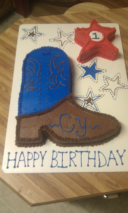 cowboy boot cake tutorial