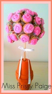 mini cupcake bouquet tutorial