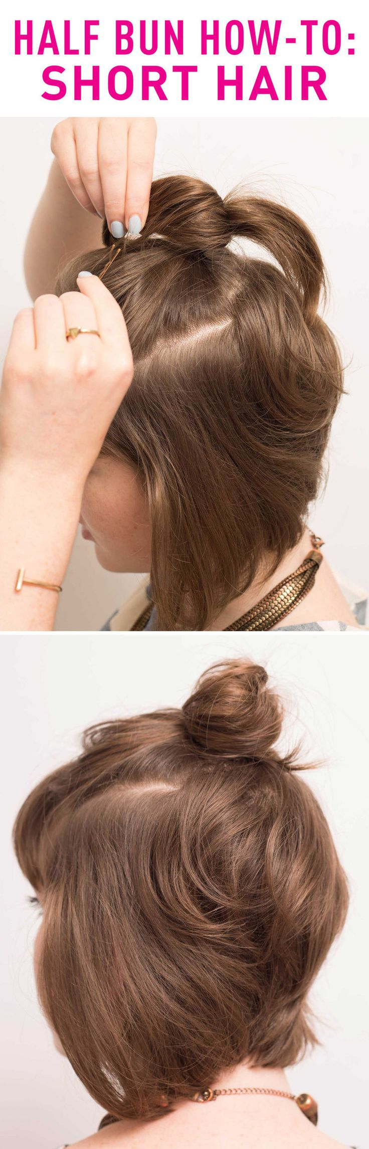 messy sock bun tutorial