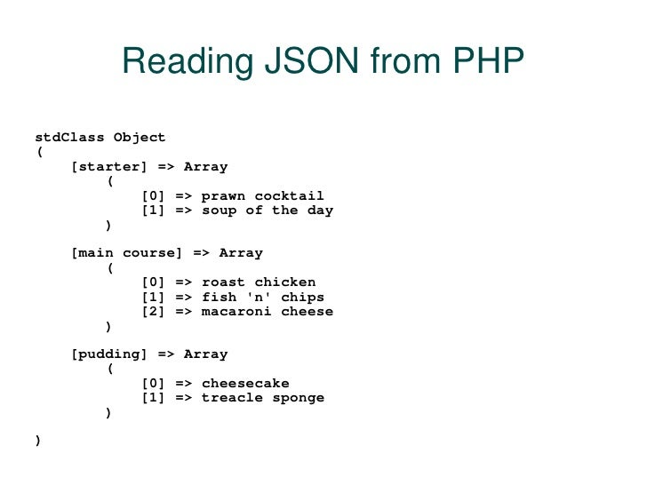 php and json tutorial