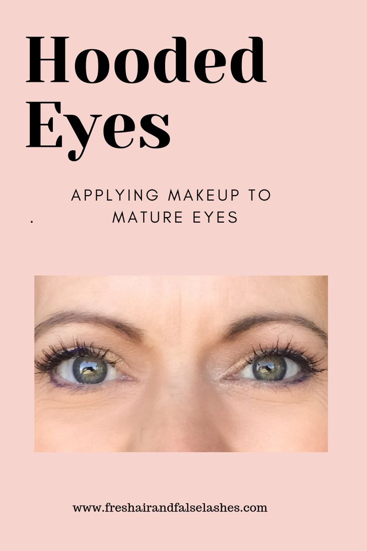 makeup tutorial for mature hooded eyes