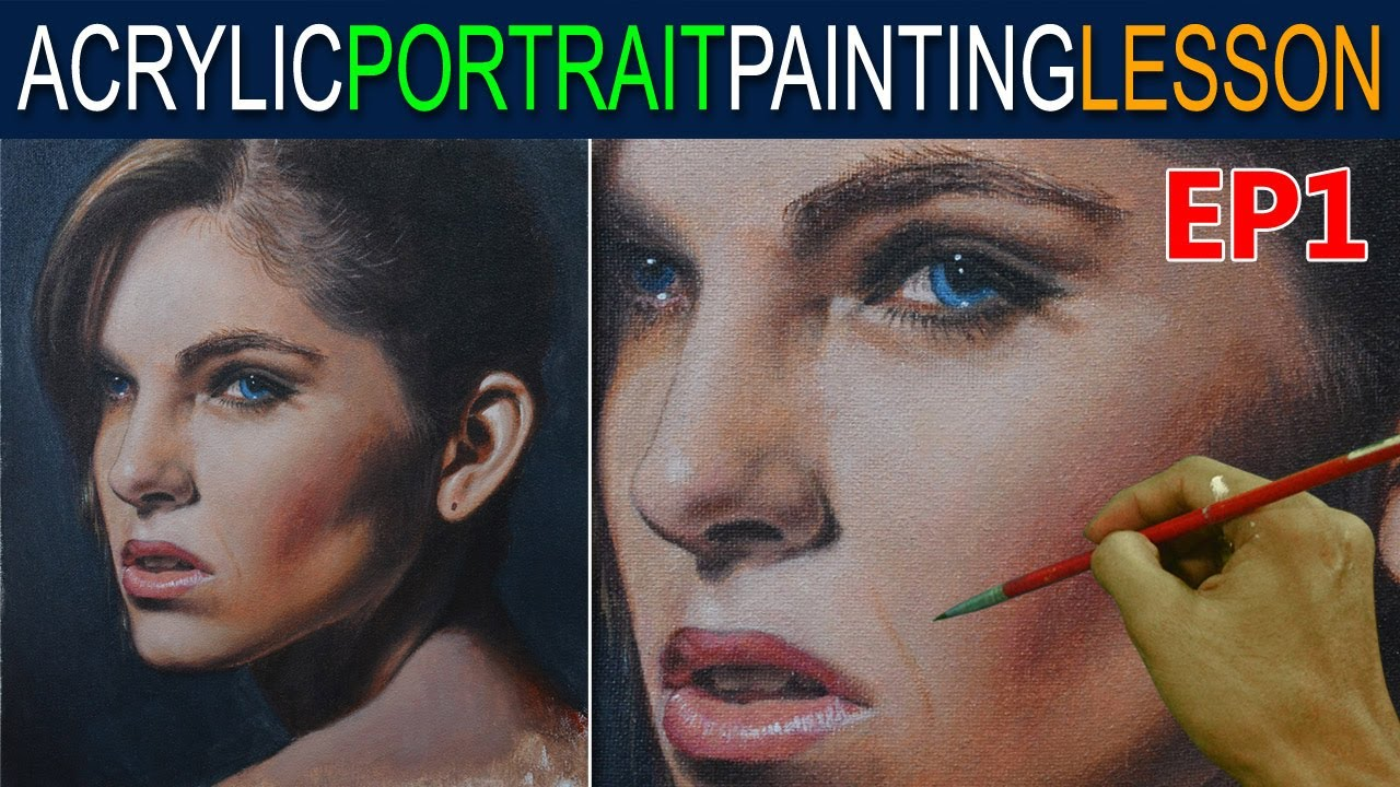 acrylic portrait painting tutorial