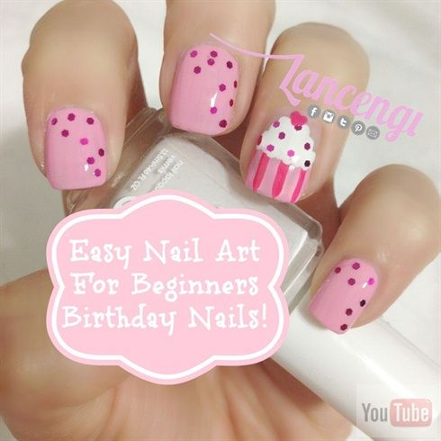 birthday nail art tutorial