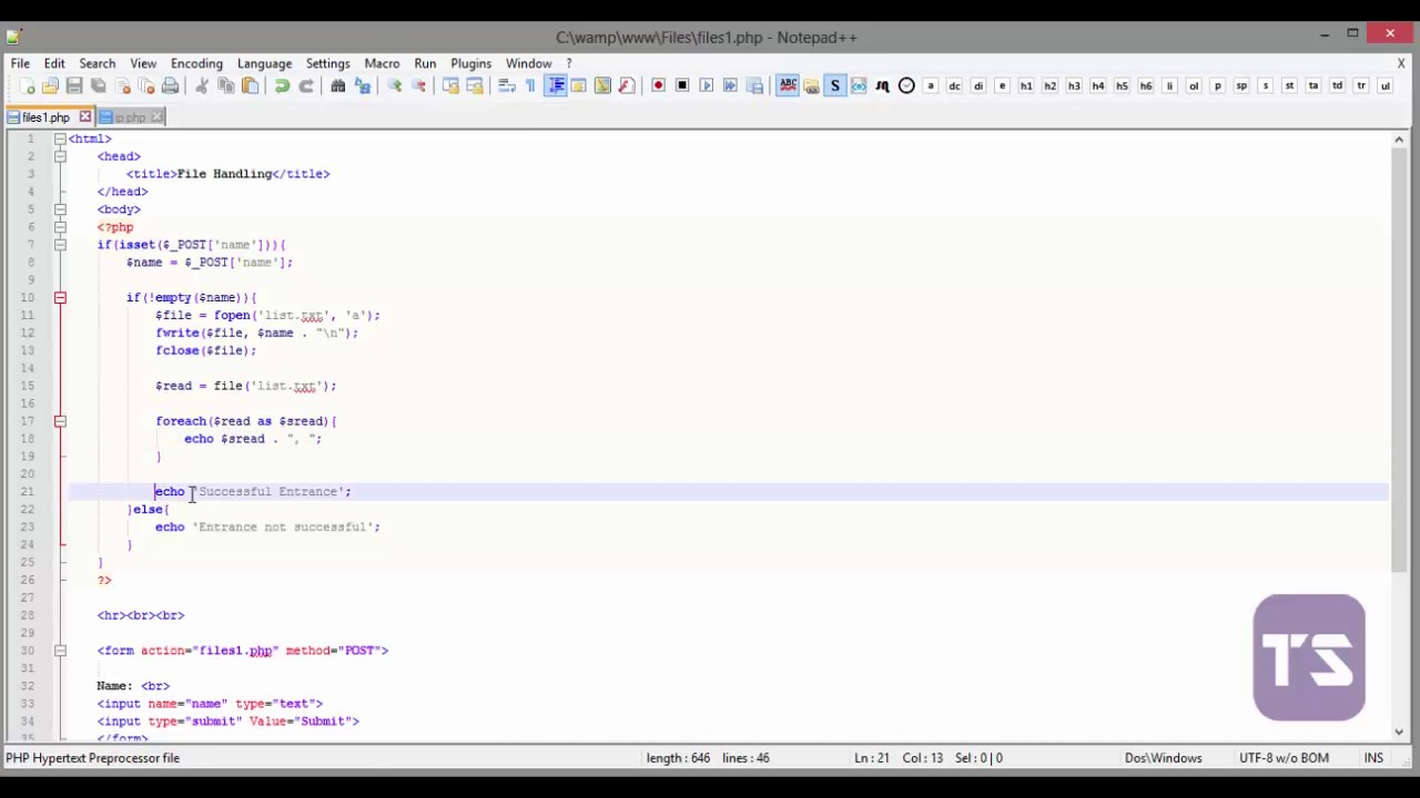 convert html to php tutorial