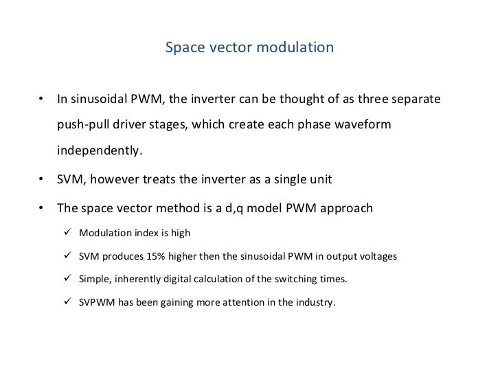 space vector pwm tutorial